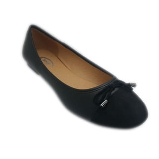 Wi-Fi Women's Bow Suede Toe Flats