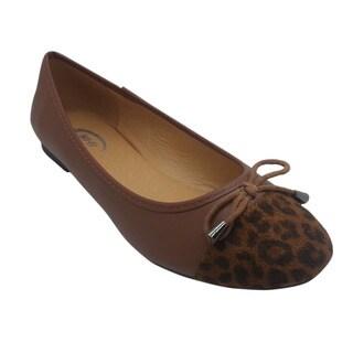 Wi-Fi Women's Leopard Suede Bow Flats