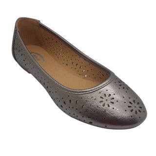 Wi-Fi Women's Floral Cut-out Grey Flats
