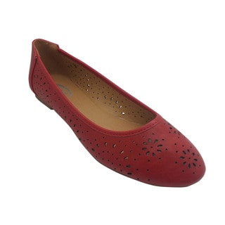 Wi-Fi Women's Floral Cut-out Red Flats