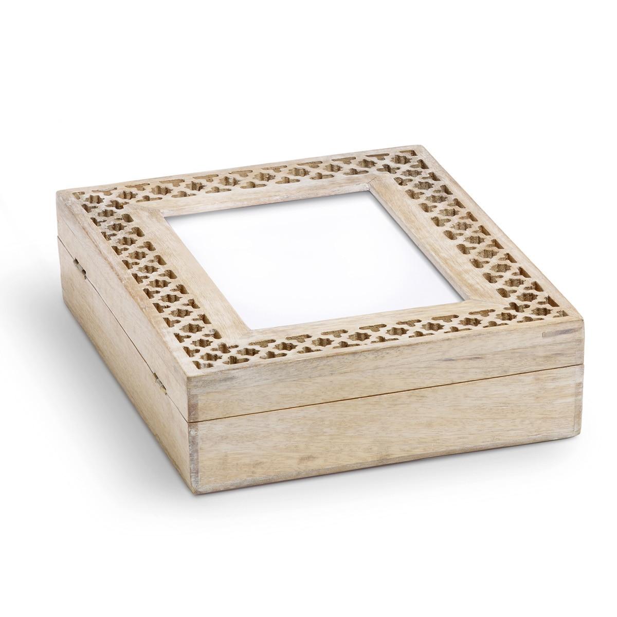 Mela Artisans Hand-carved Trellis Mango Wood Decorative Photo Frame Box at Sears.com