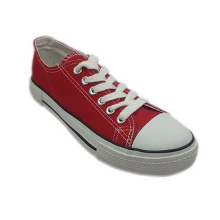 Women's Red Lace-up Sneakers