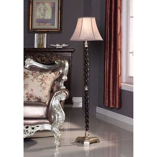 Coffee/ Grey Twisted Floor 3-way Floor Lamp