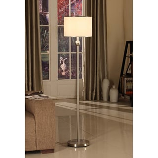Brushed Nickel 1-light Modern Floor Lamp