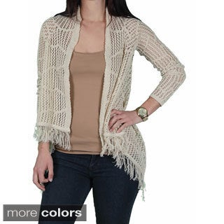 Sweater Project Juniors Crocheted Flyaway Cardigan