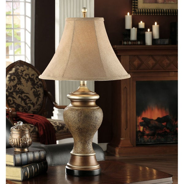 Antique Brown/ Gold Table Lamp (Set of 2)