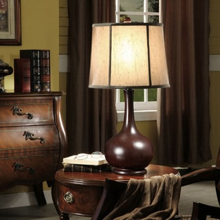 Dark Brown Goose Neck Table Lamp (Set of 2)
