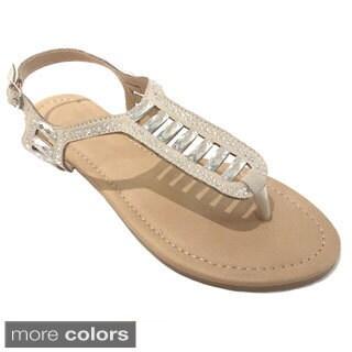 Olivia Miller Women's Crystal Ladder Sandals