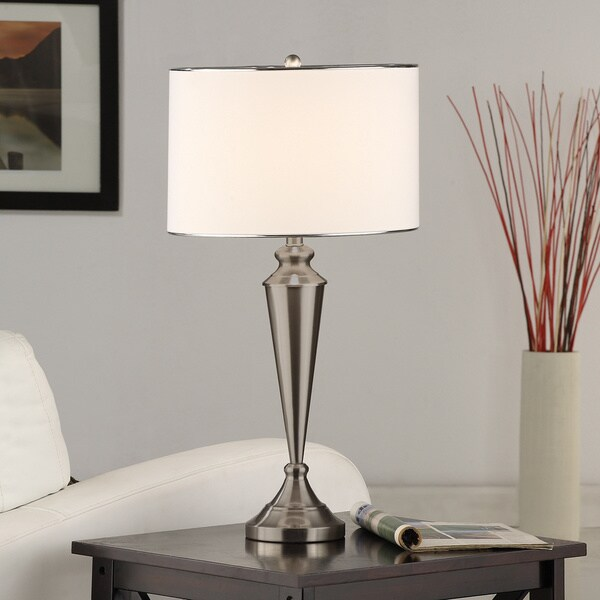 brushed nickel contemporary table lamp set of 2 16404153. Black Bedroom Furniture Sets. Home Design Ideas