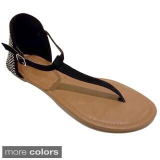Olivia Miller Women's Heat Sealed Heel Sandals