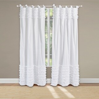 Greenland Home Fashions Lush Voile Cotton Pair of Tab Top Curtain Panel Pair