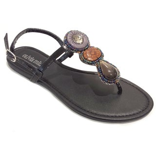 Olivia Miller Women's Tribal Stone Flat Sandals