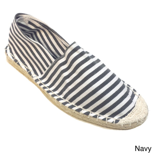 Olivia Miller Women's Nautical Striped Espadrille Flats