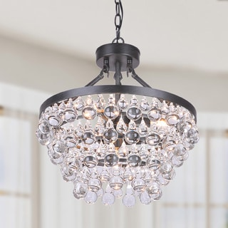 Ivana 5-light Antique Black Luxury Crystal Chandelier