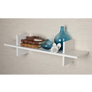 Decorative White 'H' Shaped Wall Shelf