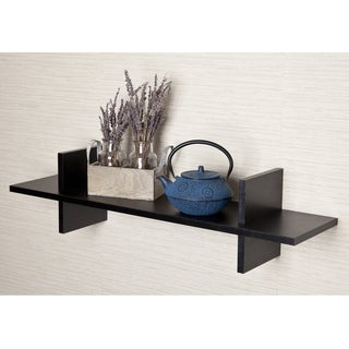 "Decorative ""H"" Shaped Black Laminate Wall Shelf"