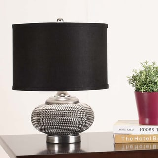 Black/ Chrome Contemporary Table Lamp