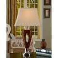 Brown/ Chrome Table Traditional Lamps (Set of 2)