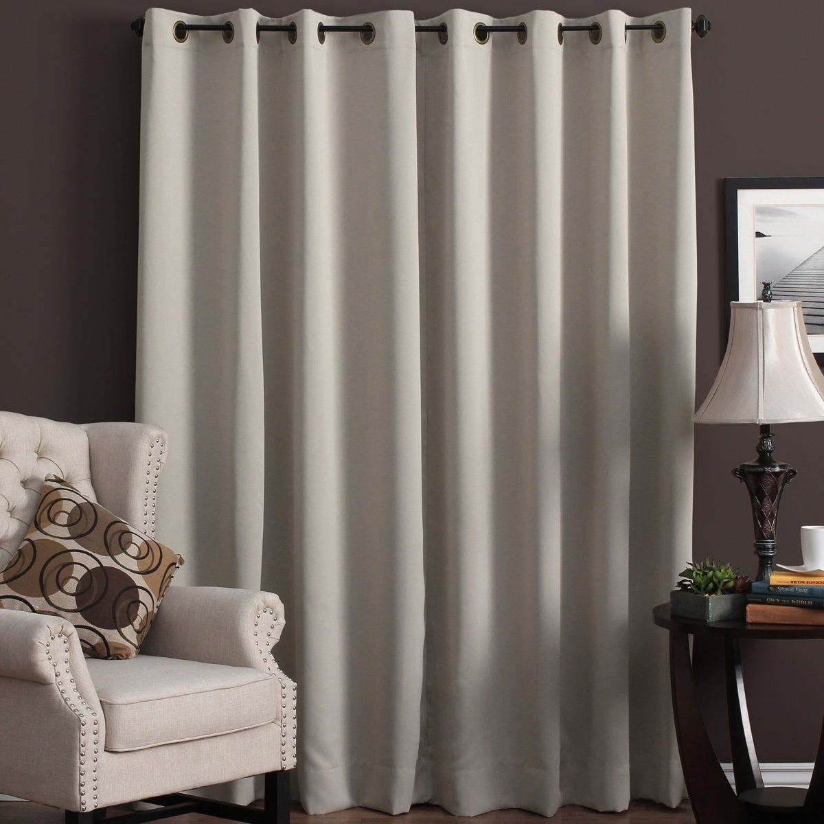 Overstock.com Ultimate Blackout Grommet Top Patio Curtain Panel at Sears.com