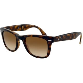 Ray Ban 'RB4105' Folding Wayfarer Plastic Unisex Sunglasses