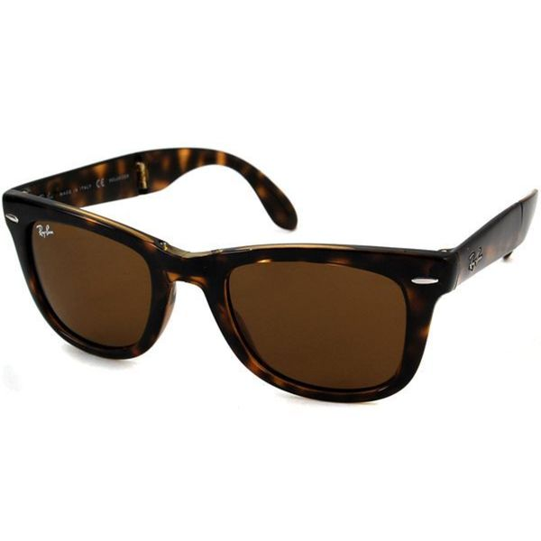 Ray-Ban 'RB4105' Folding Wayfarer Unisex Sunglasses 13367093
