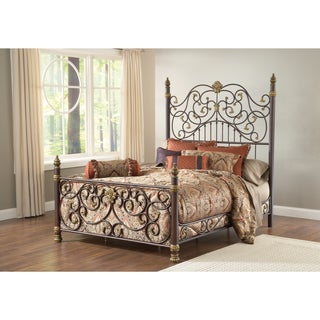 Stanton Aged Brown with Bronze Bed Set
