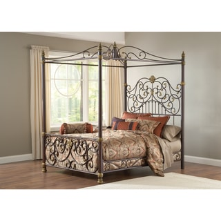 Stanton Aged Brown with Bronze Canopy Bed Set