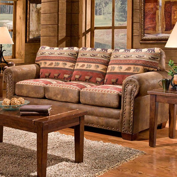 Sierra Mountain Lodge Sleeper Sofa 16404403 Overstock