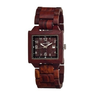Earth Men's Culm Red Wood Analog Watch