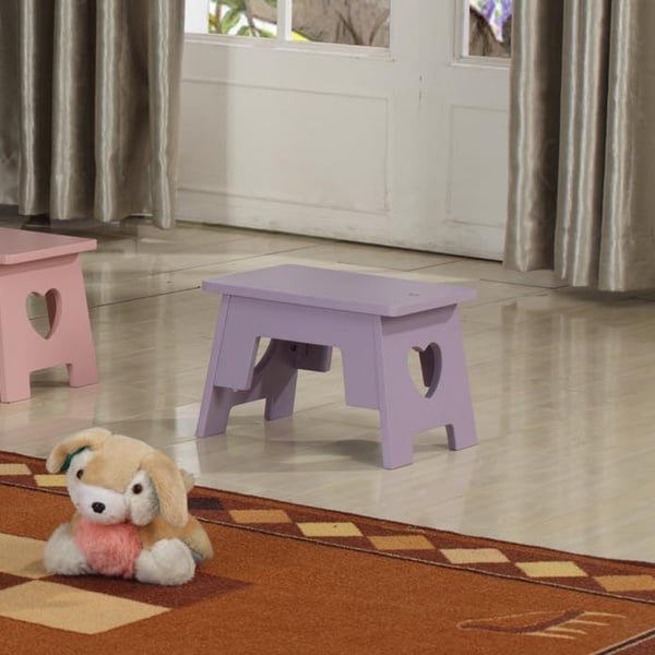 Kids' Purple Heart Step Stool