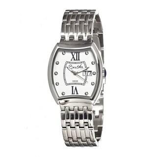 Bertha Women's Charlotte Stainless Steel White Dial Analog Watch