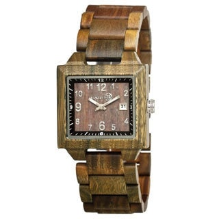 Earth Culm Brown Wood Olive Analog Watch