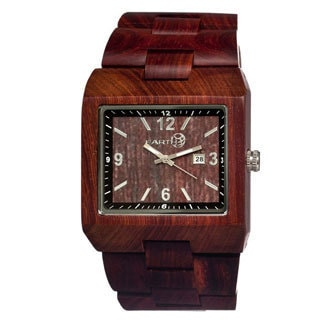 Earth Men's Rhizomes Red Wood Analog Watch