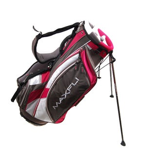 Maxfli Ladies VT Tour Grey/ White/ Pink Golf Stand Bag
