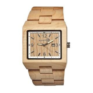 Earth Men's Rhizomes Khaki/ Tan Wood Analog Watch