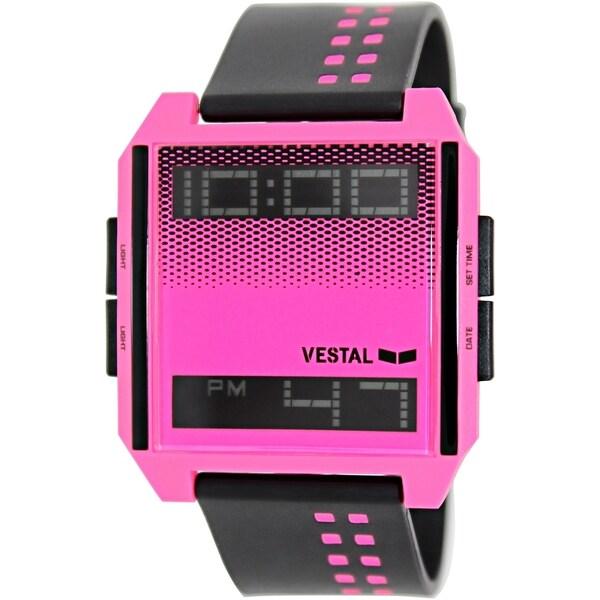 Vestal Women's Digichord DIG025 Black Plastic Quartz Watch with Digital Dial