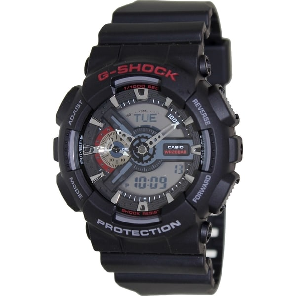 Casio Men's G-Shock GA110-1A Black Resin Quartz Watch with Digital Dial