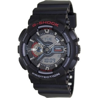 Casio Men's G-Shock GA110-1A Black Resin Quartz Watch with Digital Dial