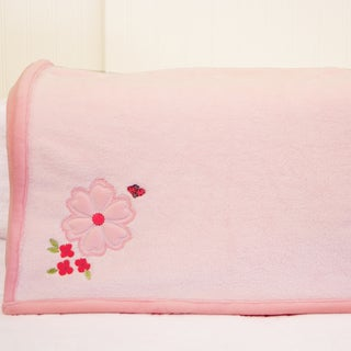 Nurture Imagination Pink Garden District Minky Blanket