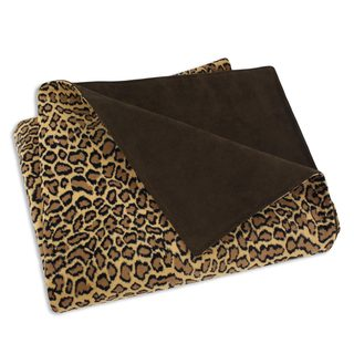 Bobcat Camel/ Tan 26x40-inch Super Soft Throw Blanket