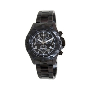 Invicta Men's Speciality 13623 Black Stainless Steel Swiss Chronograph Watch with Black Dial