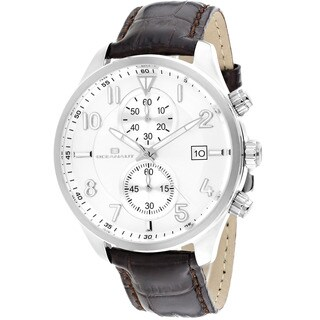 Oceanaut Men's Rally Brown Leather Chronograph Watch