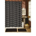 Paragon Black Shower Curtain/ Hook/ Bath Rug 15-piece Set