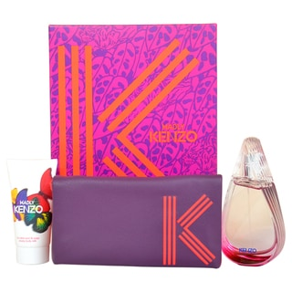 Kenzo Madly Women's 3-piece Fragrance Set with Pouch