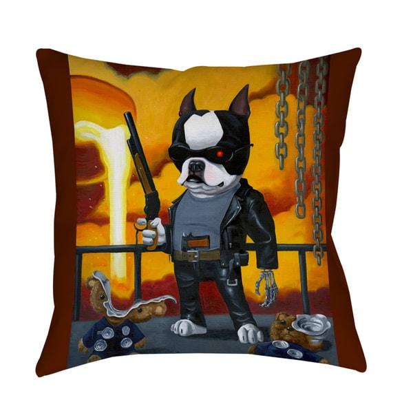 Thumbprintz Terminator Dog Indoor/ Outdoor Throw Pillow