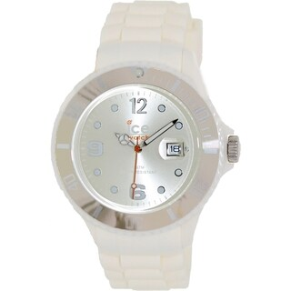Ice-Watch Men's Chocolate CT.WC.B.S.10 White Silicone Quartz Watch with Silvertone Dial