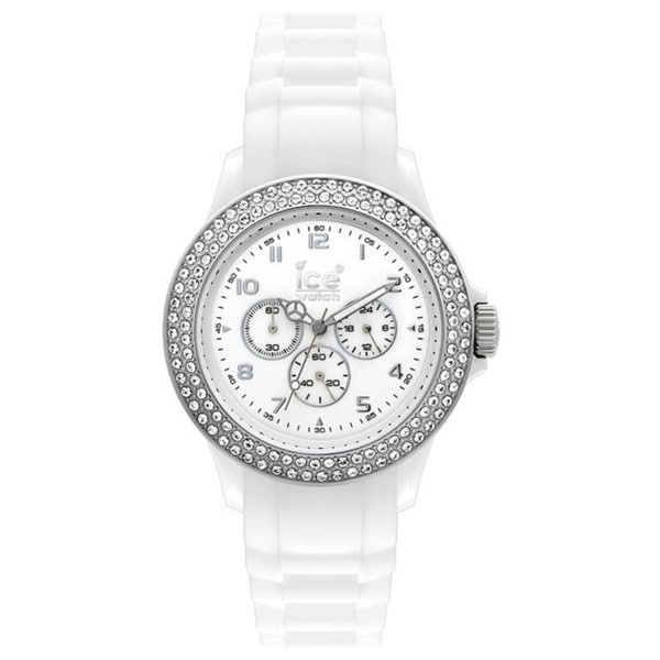 Ice-Watch Women's Multifunction MF.WS.S.S.10 White Silicone Quartz Watch with White Dial