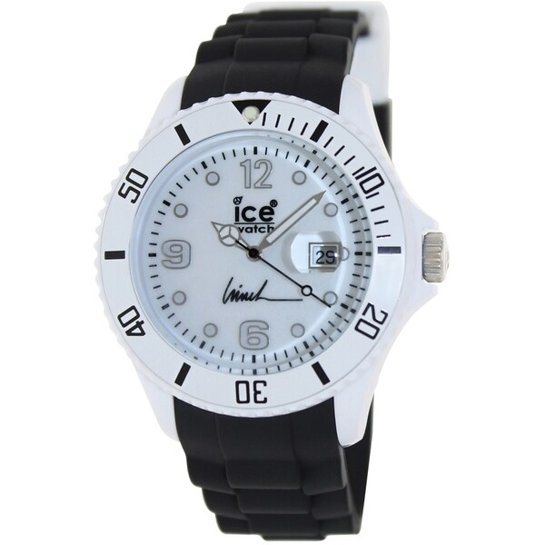 Ice-Watch Men's Largo Winch LW.BK.B.S.11 Black Rubber Analog Quartz Watch with White Dial