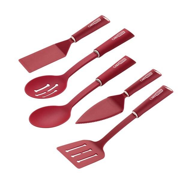Cake Boss Red Nylon Kitchen Prep Tool 5-piece Set