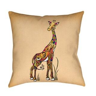 Thumbprintz Giraffe Indoor/ Outdoor Decorative Throw Pillow
